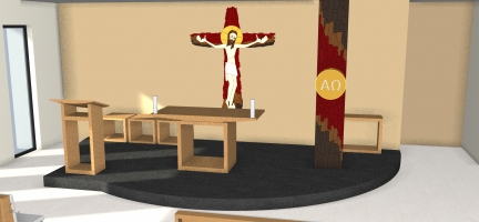 Návrh kaplnky – Heydukova