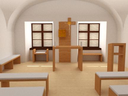 Návrh kaplnky – Emericum